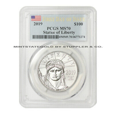 2019 $100 American Platinum Eagle PCGS MS70 First Day of Issue FDOI 1oz .9995