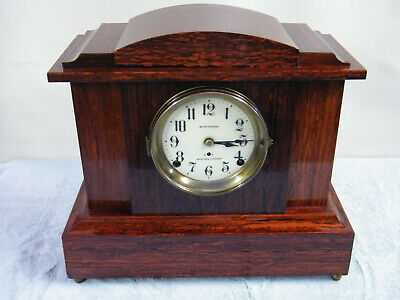 Seth Thomas Sonora Chime Red Adamantine Mantle Clock Runs And Chimes Video