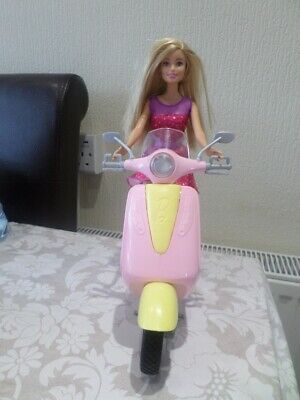 2009 Mattel Barbie Doll With Her Pink Scooter