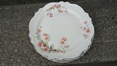 "Homer Laughlin Virginia Rose 9 1/4"" Dinner Plates---Set Of 5"