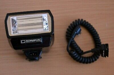 Olympus OM Quick Auto 310 Flash Unit with TTL auto cord - Tested & Working.