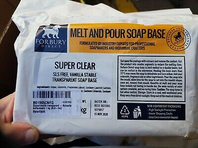 FORBURY Super Clear SLS Free Melt and Pour Glycerin Transparent Soap Base 1KG
