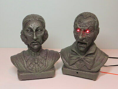 2011 Magic Power  Animated Busts Halloween Talking Heads with Lights & Movement