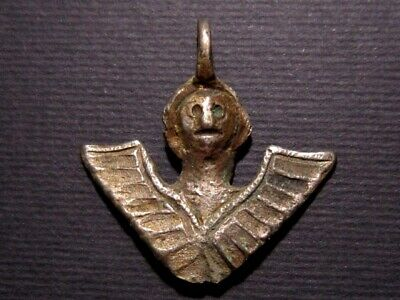 Extremely Rare Post Byzantine Silver Religious Angel Amulet!!!