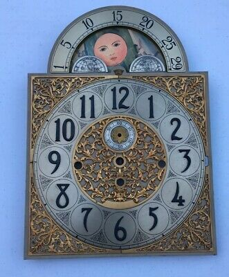 Vintage HERSCHEDE 5 Tubes Grandfather Clock -DIAL ONLY- For Parts