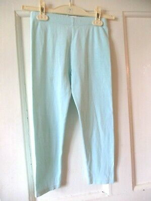 Girls  Vintage Marks and Spencer's leggings Mint green - age 5-6 yrs  height 116