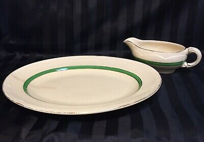 Pretty Clarice Cliff Platter And Jug From Newport Pottery England