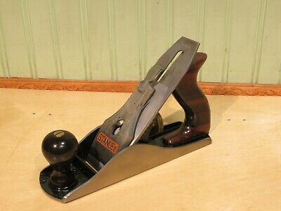 Stanley No. 4 Bailey Smooth Bottom Plane Woodworking Carpentry Tool Type 18