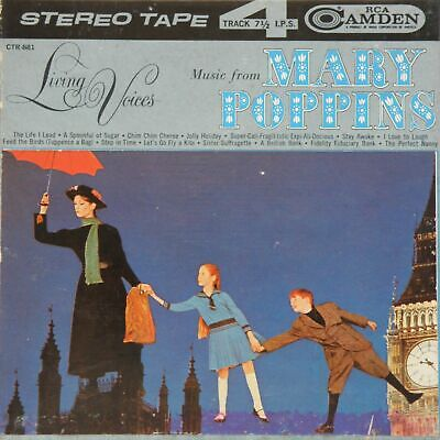 "Rare Living Voices *Music From Mary Poppins* 1965 7""Stereo Tape Reel To Album Ex"