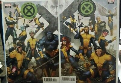 House Of X #4 & Powers Of X #4 Molina Connecting Variant 2 Comic Set Signed NM