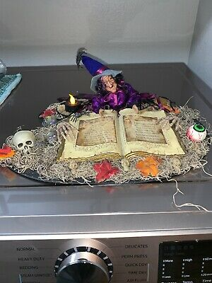 OOAK Halloween Witch Tabletop Lighted Centerpiece
