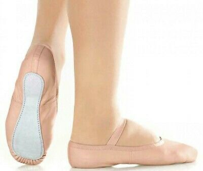 Ballet Dance Shoes full suede sole elastics Pink Leather irish jig pumps