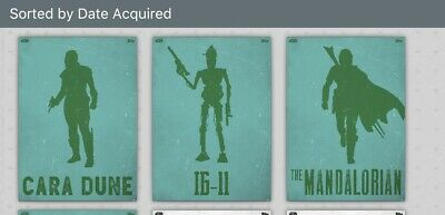 Topps Star Wars Card Trader Lawless Lands The Mandalorian Green Set Of 4