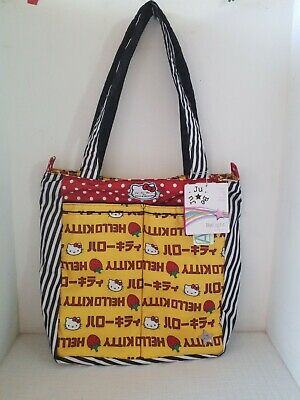 Ju-Ju-Be Hello Kitty Collection Be Light Tote Bag, Strawberry Stripes RARE