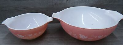 Set Of Two Pyrex Ovenware Cinderella Mixing Bowls Pink Gooseberry
