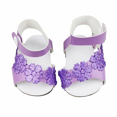 Cute Purple Granular Shoes For 18 Inch American Girl Doll Doll Accessories IL