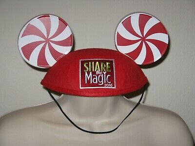 """Disney """"Share the Magic"""" 2016 Mickey Mouse Ears & Matching Apron"""