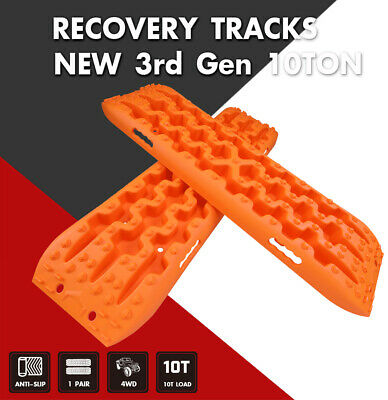 X-BULL Recovery Tracks Sand Traction Snow Mud Tire Off-Road 4WD Ladder Orange