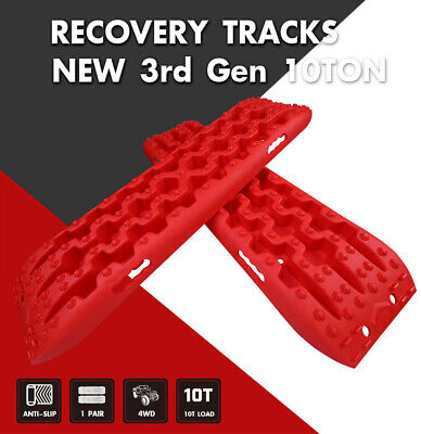X-BULL Recovery Tracks Sand Traction Snow Mud Tire Ladder Off Road Red Car 4WD