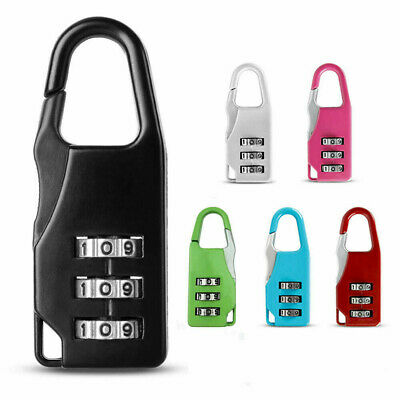 Mini 3 Digit code Metal Combination Travel Luggage Bag Case Lock Password F6