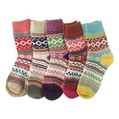 5 Pairs Women Wool Nordic lady Thick Winter Socks Warm Soft Solid Casual Sport