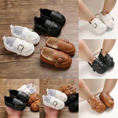 US Baby Toddler Soft Sole Leather Anti-slip Shoes Infant Boy Girl Fashion Shoes