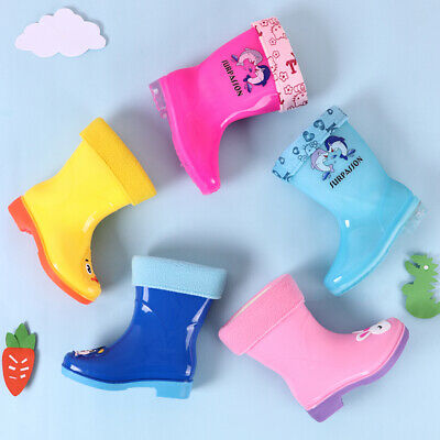 Kids Boys Girls Wellies Wellington Boots Rainy Boots Ultralight Plus Size UK
