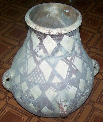 islamic terra cotta storage jar with amazing decoration p2597
