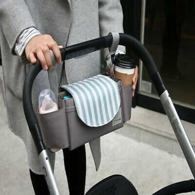Baby Organiser Mummy Bag Storage Stroller Pram Pushchair Buggy Cup Bottle Holder