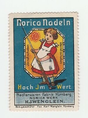 Germany- Norica Nadeln- Young girl with needle- poster stamp no gum & hinge rema