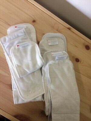 5 X Bambooty Bamboo Nappy Inserts Good Condition Preloved