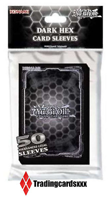 ♦Yu-Gi-Oh!♦ 50 Protèges Cartes/Pochettes SMALL Dark Hex Card Sleeves