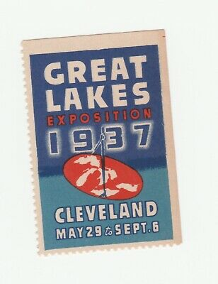 US- Great Lakes Expo. 1937 Cleveland- Post Stamp Full Gum