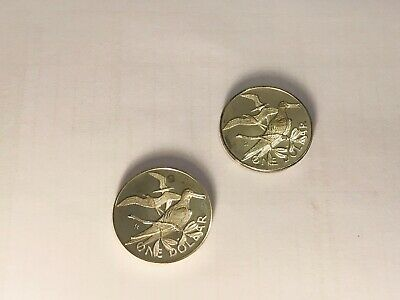 TWO British Virgin Island $1 Sterling Silver Proof Coins 1973-1874.