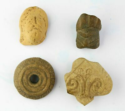 *Sc*Nice Lot Of Four Pre-Columbian Mexico Pottery Fragments!