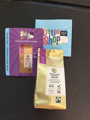 Ms M&S little shop mini collectable, Peruvian coffee beans