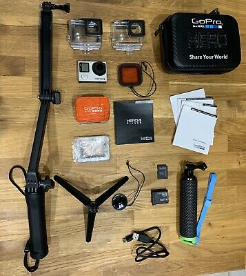 GoPro Hero4 Silver – 4K Action Camcorder Camera With Screen + Extras