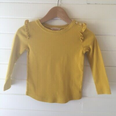 Country Road Mustard Long Sleeved Top - Size: 18-24 months (D2563)