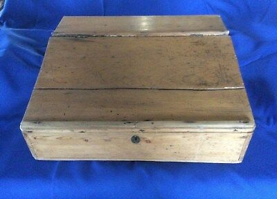 Antique / Vintage Pine Wooden Writing Slope / Desk top