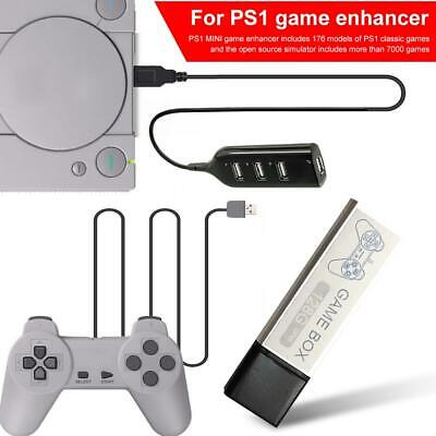 128G PS1 MINI True Blue Mini Crackhead Pack For Playstation Built-in 7000 Games`