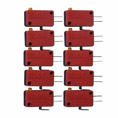 10 Pack 3 Pin Microswitch Push Button HAPP Standard For Arcade Mame Jamma Games