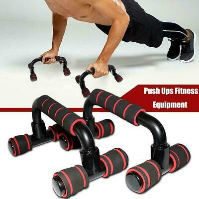 1 Pair I-shaped Push Up Bars Stand Foam Handles For Chest Fitness Gym T5E1