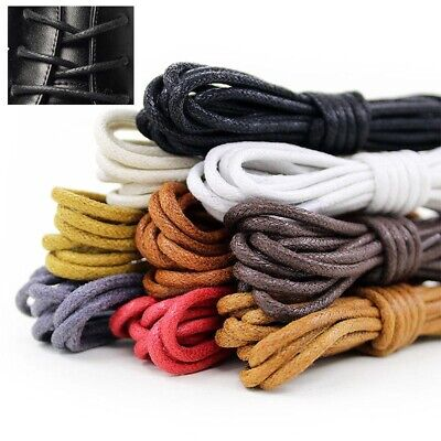 Waxed Round  Leather Shoes  Boot Shoe  Shoelaces Laces  Strings  Cord