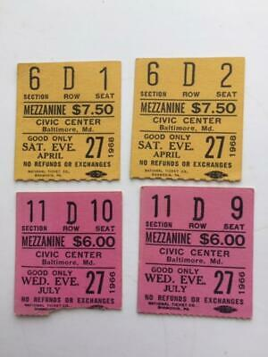 Andy Williams  Lot of 4 Vintage Concert Ticket Stubs Civic Center Baltimore