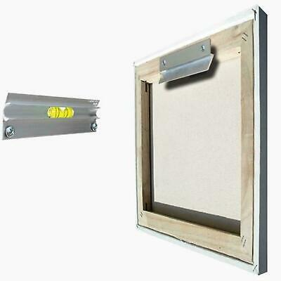 "Canvas Frame Picture Flush Hanger 13cm 5"" Hangman Screws & Level 13KG"