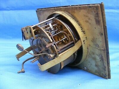 Antique French 2 Train, Hour Striking Clock Movement, Japy Freres.