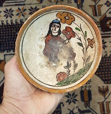 10S Wonderful Ancient Khurasan Ceramic Bowl With Beautiful Egyptian 1st Queen