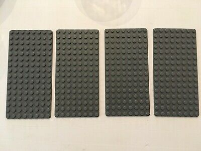 Lego 4 plaques 4x4 gris clair neuves Light Bluish Gray plates 4x4 New REF 3031