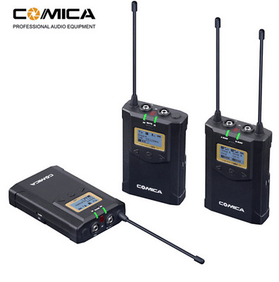 CoMica UHF 48 Channels Mono Stereo Wireless Microphone f/ Camcorder Camera Phone