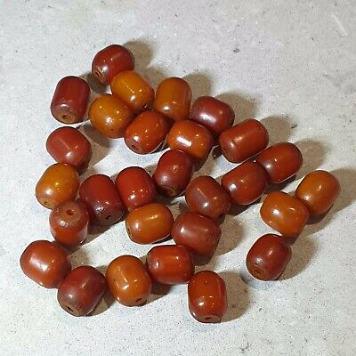 GENUINE VINTAGE NATURAL ANTIQUE BALTIC CHERRY BUTTERSCOTCH AMBER BEADS 33.3g